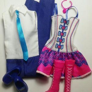 Barbie & Ken Matching Pink & Blue Outfit